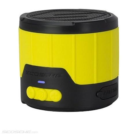 Scosche BTBTLMY boomBOTTLE mini-Résistant aux intempéries 3W Enceinte Bluetooth sans fil Jaune