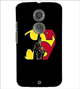 PrintDhaba Superman D-5563 Back Case Cover for MOTOROLA MOTO X2 (Multi-Coloured)
