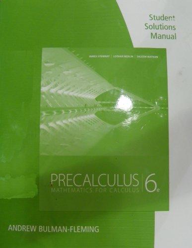 Student Solutions Manual for Stewart/Redlin/Watson's...