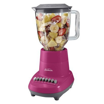 Sunbeam 6-Speed Blender - Hot Pink front-626593