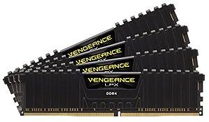 CORSAIR Vengeance LPX 128GB (4x32GB) DDR4 2400 (PC4-19200) C16 1.2V Desktop Memory - Black (Color: Black)