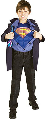 Boys Clark Kent Superman Reverse Kids Child Fancy Dress Party Halloween Costume