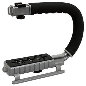 MoonGrip Professional Camera / Camcorder X-GRIP Action Stabilizing Handle - Metallic Grey XGRIP