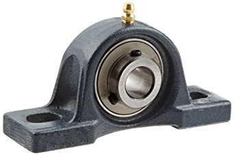 FYH UCP203 Pillow Block Mounted Bearing, 2 Bolt, 17mm Inside Diameter, Set screw Lock, Cast Iron, Metric