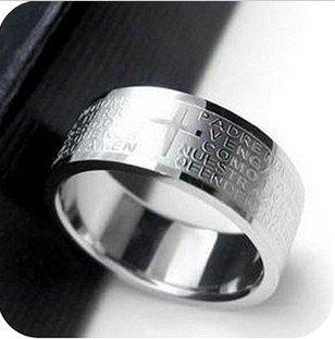 JE238 Heilig Kreuz Ring, Christian Ring, Religiöse Ring, My Lord & Erlöser Ring