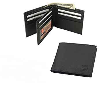 08. Genuine Leather RFID Blocking Secure Wallet (Black - Bi-Fold - 10 Slots) - by Identity Stronghold