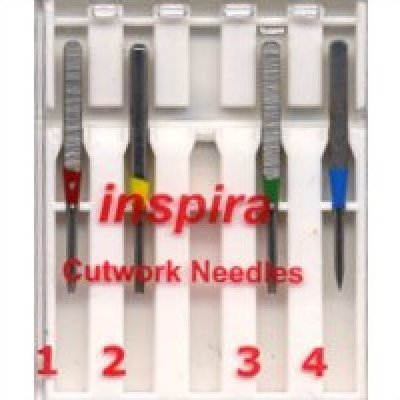 Lowest Price! Inspira Cutwork Needles - Will Fit All Embroidery Machines