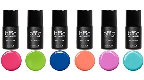 BMC 6pc Cream Colored Gel Nail Lacquers - Cali Dreamin' Collection (Bmc Gel Nail Polish Starter Kit compare prices)