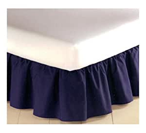 mainstays bedskirt navy king size 180
