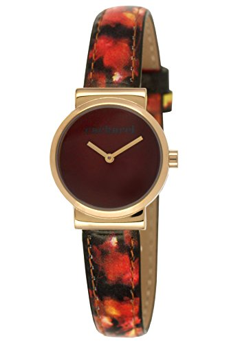 Cacharel CLD 1UU - 044/Women's Quartz Analogue Watch-Brown Face-Brown Leather Strap