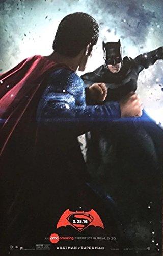 "BATMAN V SUPERMAN: DAWN OF JUSTICE - 11""X17"" Original Promo Movie Poster 2016 AMC Exclusive"