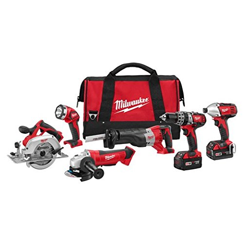 Milwaukee 2696-26 M18 Cordless LITHIUM-ION 6-Tool Combo Kit (Milwaukee Tools Fuel Kit compare prices)