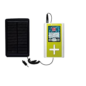 Solar Powered Rechargeable External Battery Pocket Charger for the Toshiba Gigabeat F60 MEGF60 - uses Gomadic TipExchange Technology