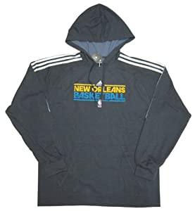 NBA New Orleans Hornets Adidas Promo Practice Hood - Hooded Sweatshirt - Deepesspa... by adidas