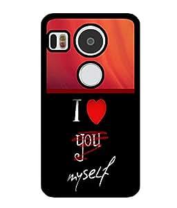 Fuson 2D Printed Love Designer back case cover for LG Google Nexus 5X - D4361