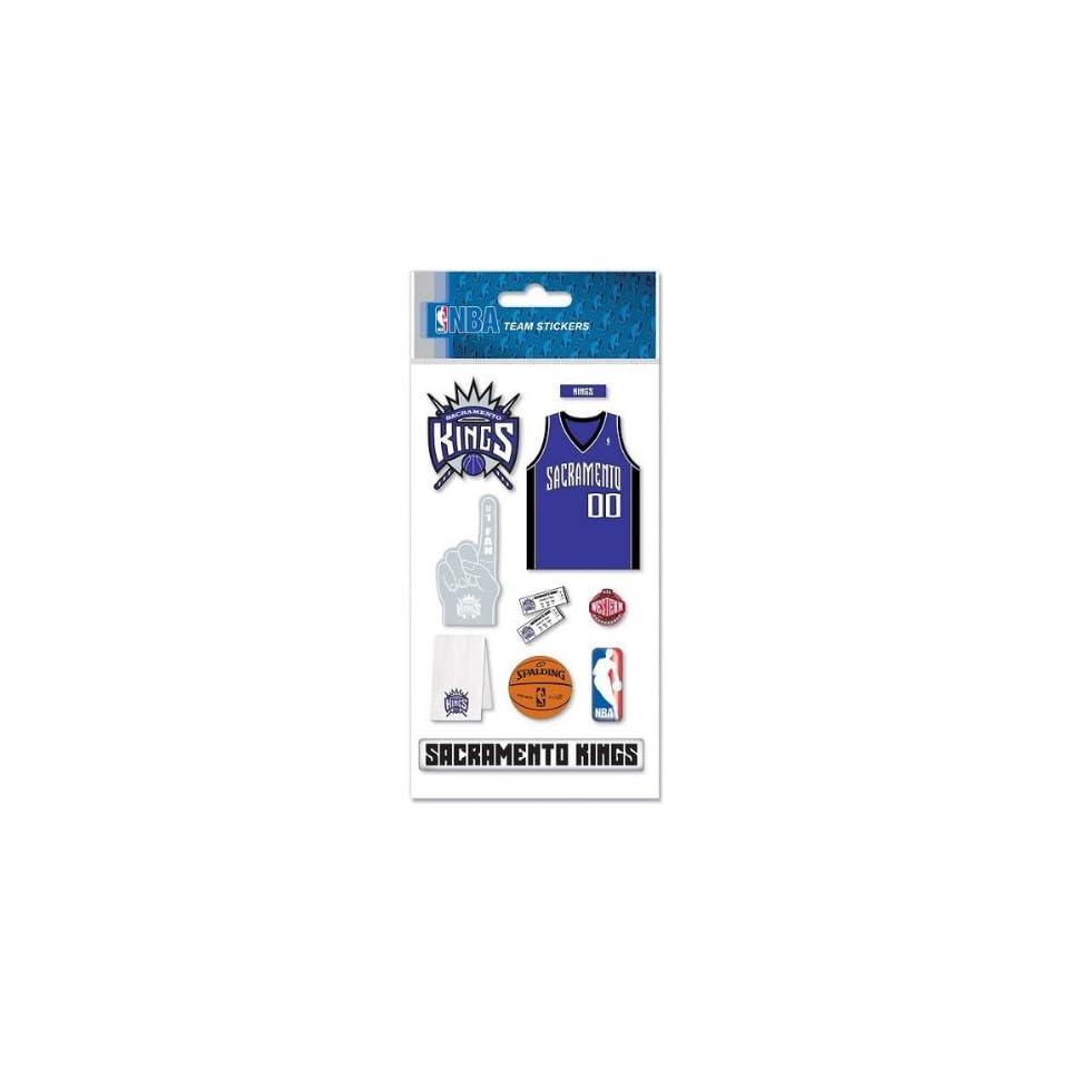 NBA Sacramento Kings Basketball Dimensional Scrapbook Stickers