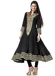 Clickedia Women's Cotton A line Kurta (Rakhi Black Kurti_Black_Free Size)