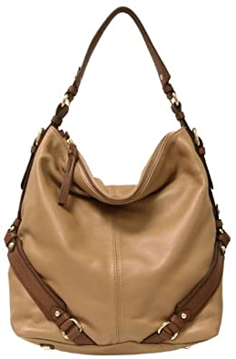 Tano Handbags Leather Wrap Star Shoulder Bag - Natural