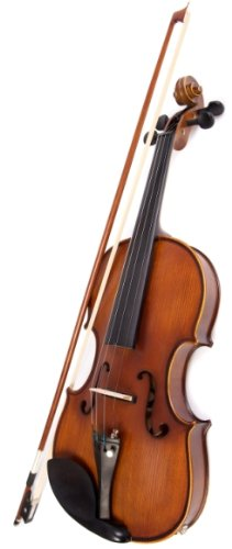 Archetto Antico Semi Acoustic / Electric Violin Outfit with Case, Bow  &  Amp Lead (4/4 Full Size)