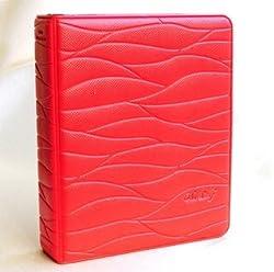 Woodmin Colorful Leaf Pattern Instax Mini Album Fuji Instax Mini Book Album For instax mini7s 8 25 50s 90 Film---Red
