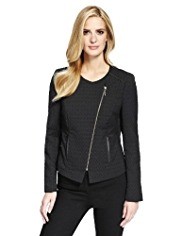 M&S Collection Jacquard Biker Jacket