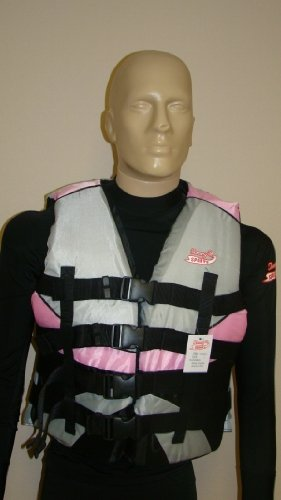 Image of Women's Life Jacket, Plus Sizes, 3x , Pink /White (B0032OW1XA)