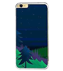 Night 2D Hard Polycarbonate Designer Back Case Cover for Apple iPhone 6 Plus :: Apple iPhone 6+