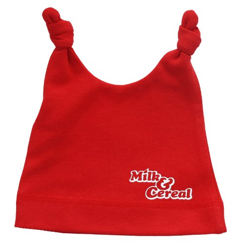 Milk & Cereal Red Logo Double Knot Cotton Baby Hat
