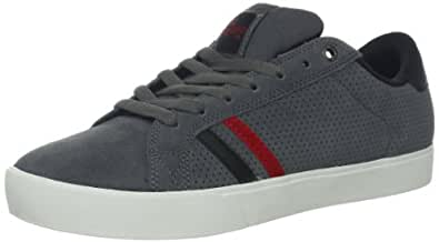 Emerica Men's The Leo Skate Shoe,Grey/Black/Red,8 D US
