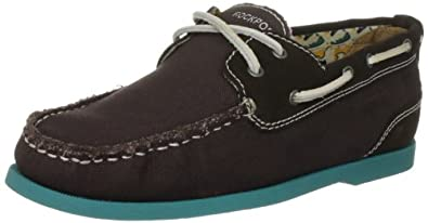 Rockport Men's Coastal Springs 2 Eye Boat Brown/Teal Boat Shoe K61904  7 UK , 40.5 EU , 7.5 US