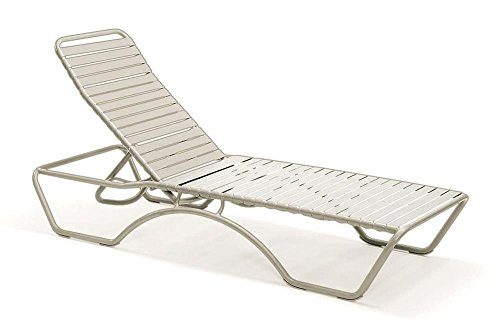 Reclining chaise lounge chair w aluminum frame and nylon for Aluminum frame chaise lounge