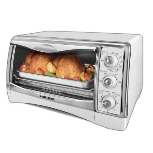 Black & Decker CTO4300W Perfect Broil Countertop Oven, White