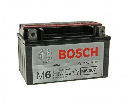 Batterie BOSCH YTX7A-BS 12 Volt - Rex RS 1000 125 4T Bj. 2009-2012 [ inkl.7.50 EUR Batteriepfand ]