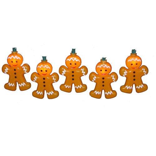 Kurt Adler 10-Light Gingerbread Light Set front-416831