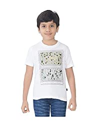 Mint White Cotton Boy's t-shirt