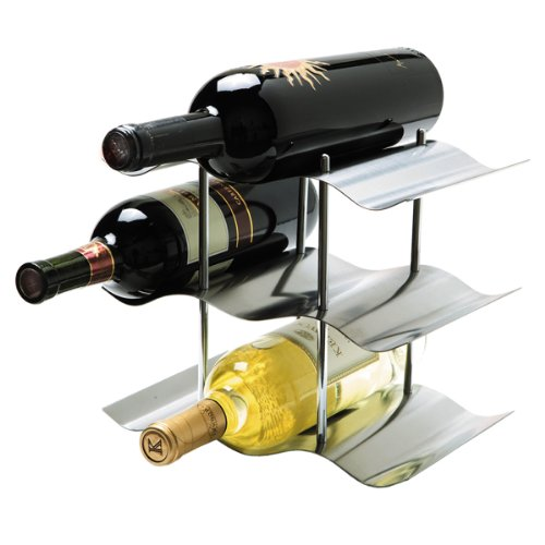 Oggi 9-Bottle Stainless Steel Wine Rack (9 Wine Rack compare prices)