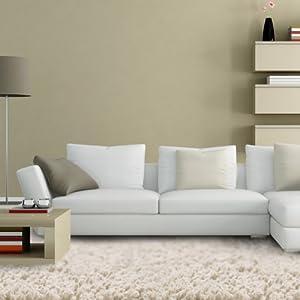Floori® Shaggy Teppich | Beige - Größe wählbar - GuT-Siegel/PRODIS