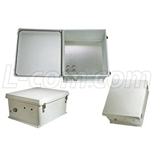 L-com NB Series Non-Powered 18x16x8 Inch Weatherproof NEMA Enclosure with Mounting Plate