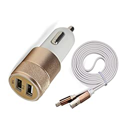 Accucharger IIP-DCC-301 Dual USB Car Charger with Micro USB Cable