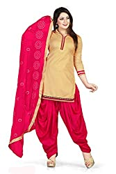 Women's Salwar Suit Dress Material of high quality(Multi Color_Free Size)