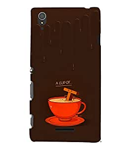 EPICCASE A cup of Tea Mobile Back Case Cover For Sony Xperia T3 (Designer Case)
