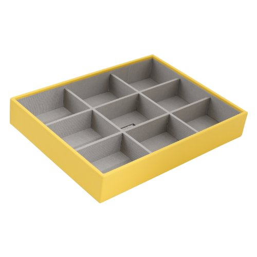 Wolf Designs Deep Jewelry Tray, Large, Yellow