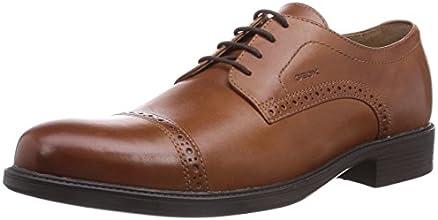 Geox U Carnaby B, Chaussures de ville homme - Marron (Cognac), 44 EU