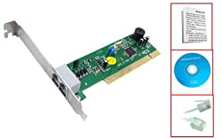 MOTOROLA-BASED - PCI Card DATA FAX MODEM (Dial up modem) Internal PCI Slot card - 56K V. 92 - With CD. For PC (Windows 98 / 98SE / NT 4.0 / 2000 / ME / XP / VISTA) - This modem v.92 is based on the Motorola chipset with V.34 FastPath platform, a host accelerated modem solution - optimized features from software and hardware modems. (Line -in, Phone -out RJ-11 jacks on back). Phone cable, manual & drivers CD Included. PCI Plug-and-Play (dial up) Interface. Internet Internal Modem has OEM Packaging.