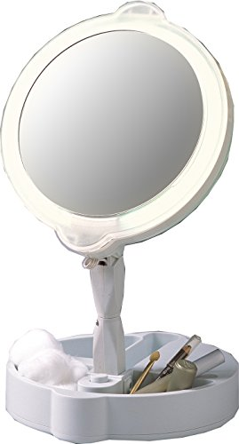 Home Travel 9X/1X Folding Lighted Cosmetic Mirror front-59571