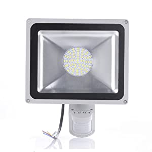 20W,30w,50w(50W) LED Induction PIR Infrared Motion Body Sensor Flood Lights Lamp White.IP65 Rated. (50W)