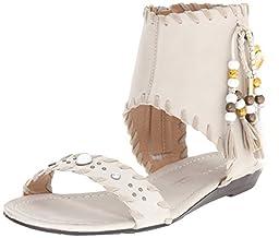 Very Volatile Women\'s Yulissa Heeled Sandal, Ice, 6 B US