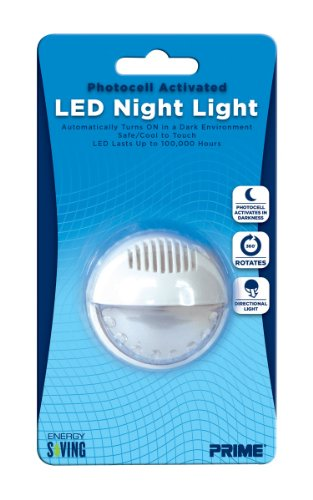 Prime Wire & Cable Nlar1 Automatic Rotating Led Night Light, 1-Pack