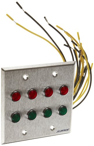Securitron Zlp-4-Double Gang, Four Red, Green Led