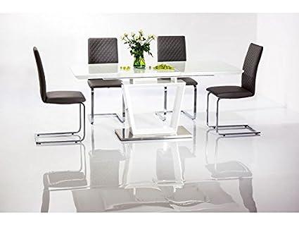 "'Design sala da pranzo tavolo ""Lauren lucido allungabile"